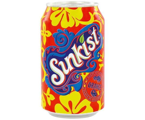 Sunkist Cans - Orange - 24x330ml
