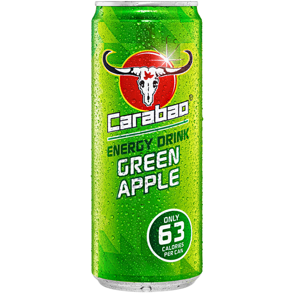 Carabao Cans - Energy Drink - Green Apple - 12x330ml