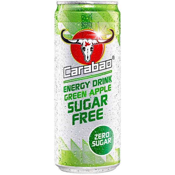 Carabao Cans - Sugar Free - Green Apple - 12x330ml