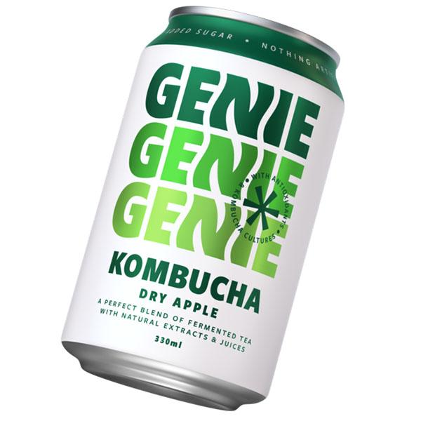 Genie Can - Kombucha Dry Apple - 24x330ml