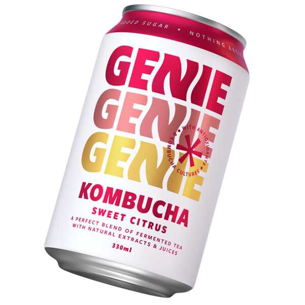 Genie Can - Kombucha Sweet Citrus - 24x330ml