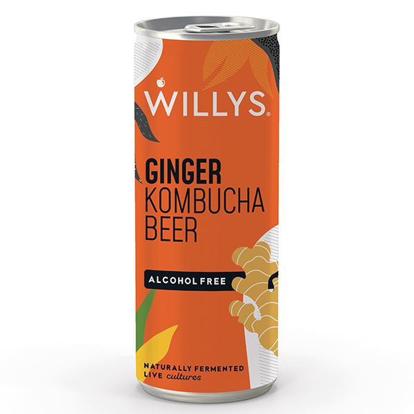 Willy's Kombucha - Ginger Beer - 12x250ml