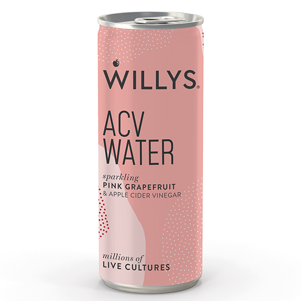 Willy's Sparkling ACV Water - Pink Grapefruit - 12x250ml