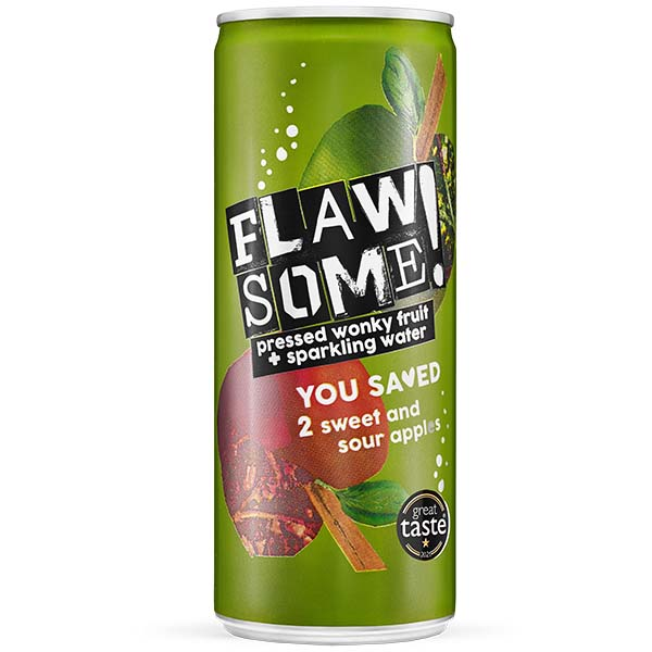 Flawsome Can - Sweet & Sour Apple - 24x250ml