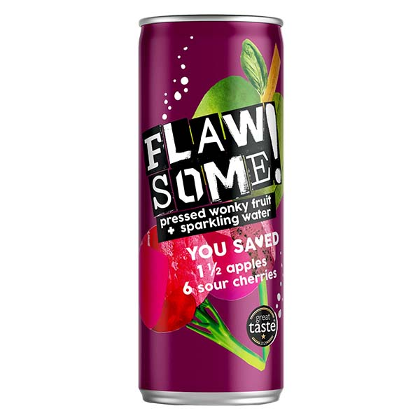 Flawsome Can - Apple & Cherry - 24x250ml