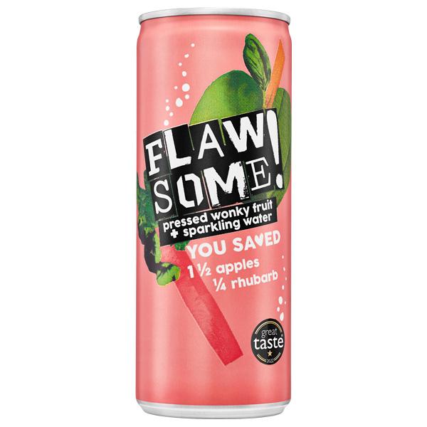Flawsome Can - Apple & Rhubarb - 24x250ml
