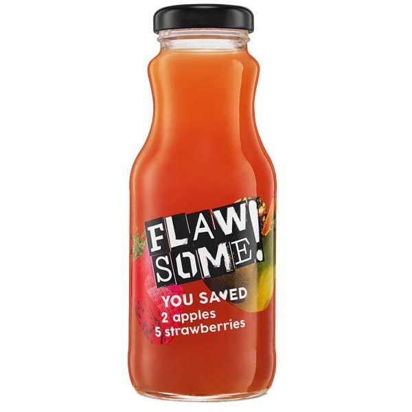 Flawsome! - Glass - Apple & Strawberry Juice - 12x250ml