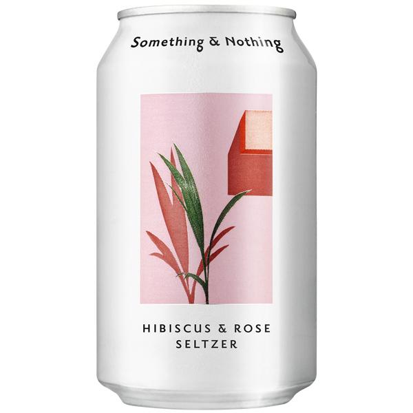 Something & Nothing - Hibiscus & Rose Seltzer - 12x330ml