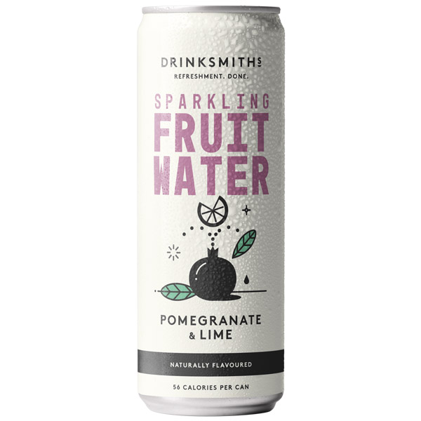 Drinksmiths - Sparkling Fruit Water - Pomegranate & Lime - 12x330ml