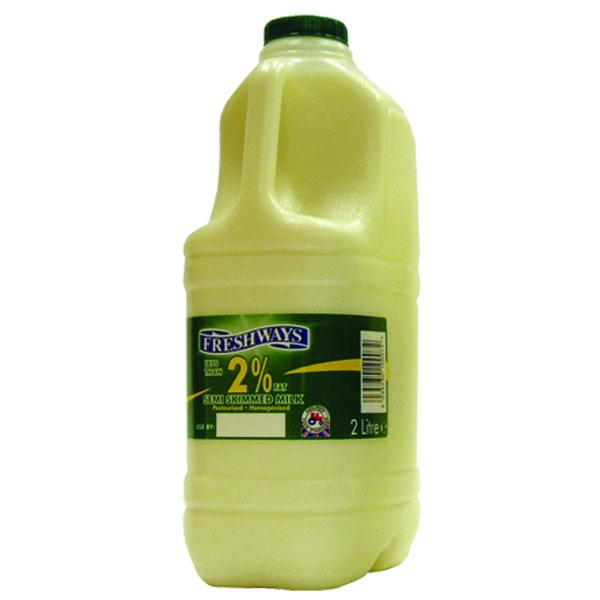 Single Semi Skimmed Milk (Green) - 1x2L