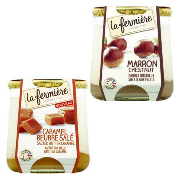 La Fermiere Dessert Mix - 6x160g - 3x Chestnut 3x Salted Caramel