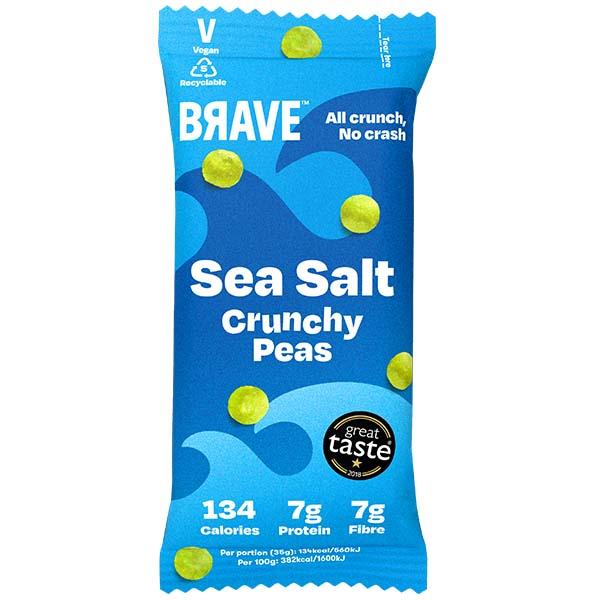 Brave Roasted Peas - Sea Salt - 12x35g