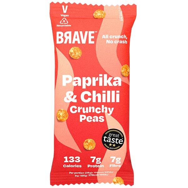Brave Roasted Peas - Paprika & Chilli - 12x35g