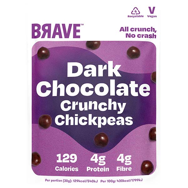 Brave Roasted Chickpeas - Dark Chocolate - 12x30g