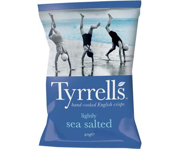 Tyrrells - Lightly Sea Salted - 24x40g
