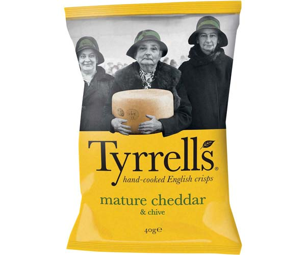 Tyrrells - Cheddar Cheese & Chive - 24x40g
