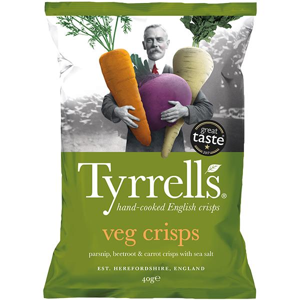 Tyrrells - Mixed Vegetable Crisps - 24x40g