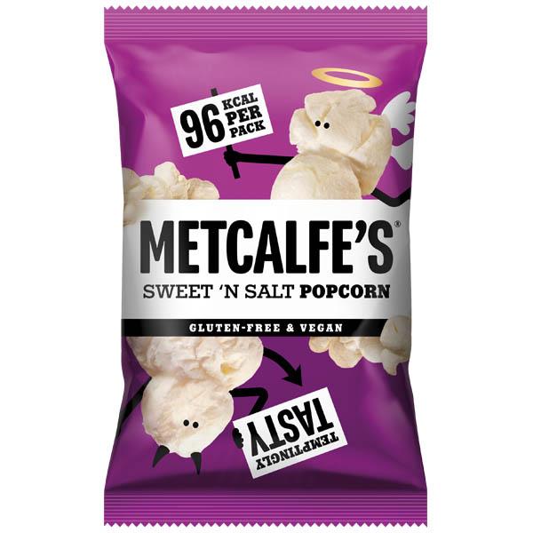 Metcalfe'S Skinny Popcorn - Sweet 'N' Salt -  24x20g