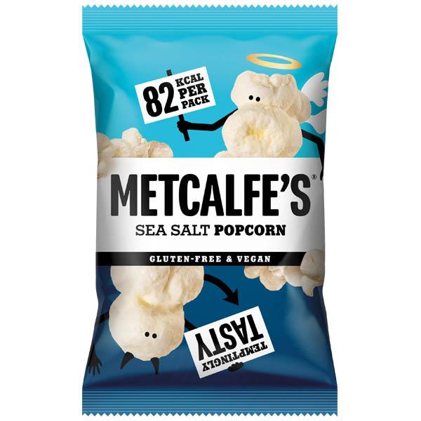 Metcalfe'S Skinny Popcorn - Sea Salt - 24x17G