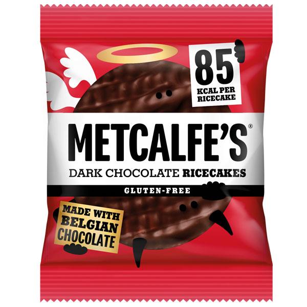 Metcalfe's Rice Cakes - Dark Chocolate - 12x34g
