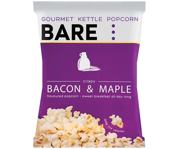 Bare Popcorn - Bacon & Maple Syrup - 18x28G