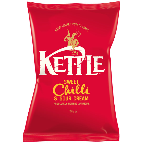 Kettles - Sweet Chilli & Sour Cream - 12x150g