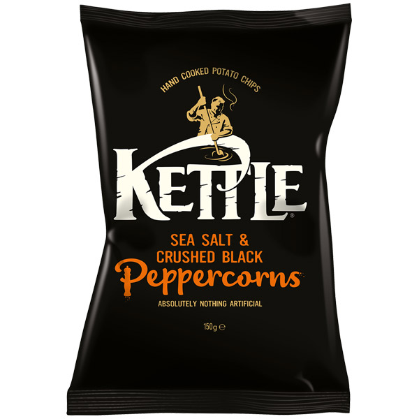 Kettles - Sea Salt & Black Pepper - 12x150g