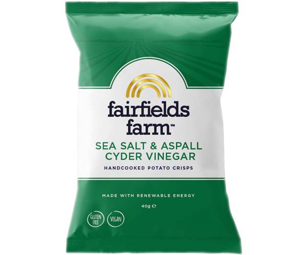 Fairfields - Sea Salt & Aspall Cyder Vinegar - 24x40g