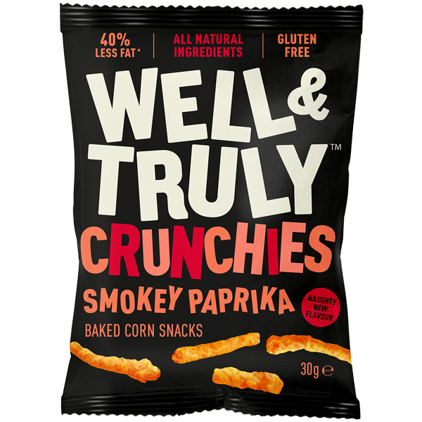 Well & Truly Crunchies - Smokey Paprika - 10x30g