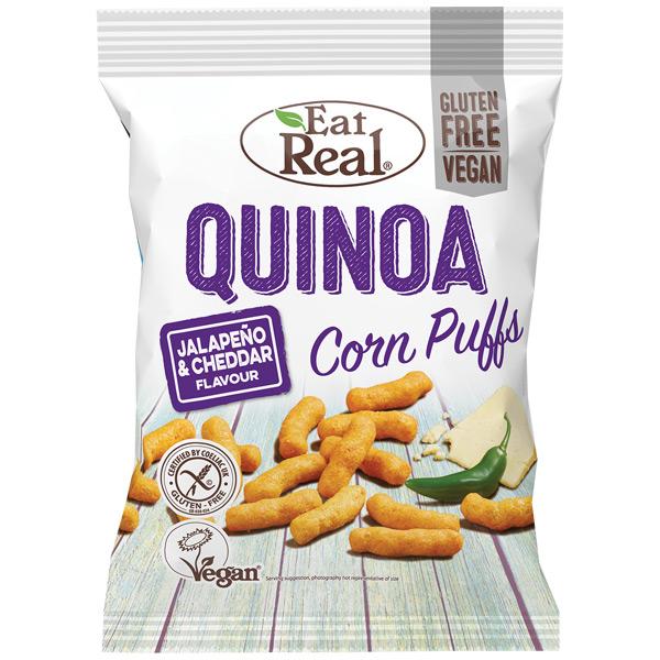 Eat Real - Quinoa  & Corn Puff - Jalapeno & Cheddar - 12x40g
