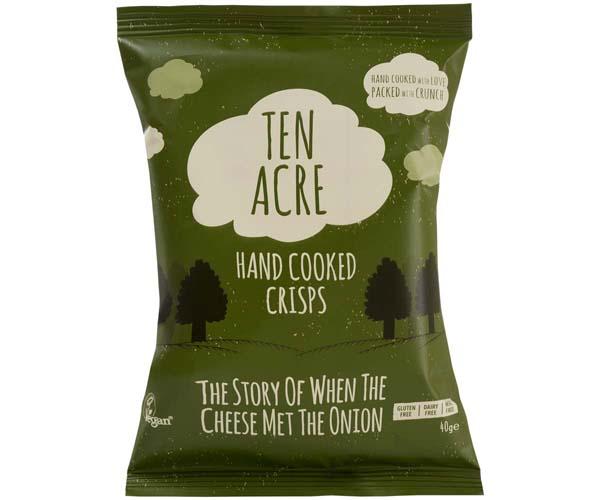 Ten Acre Crisps - Cheese & Onion - 18x40g