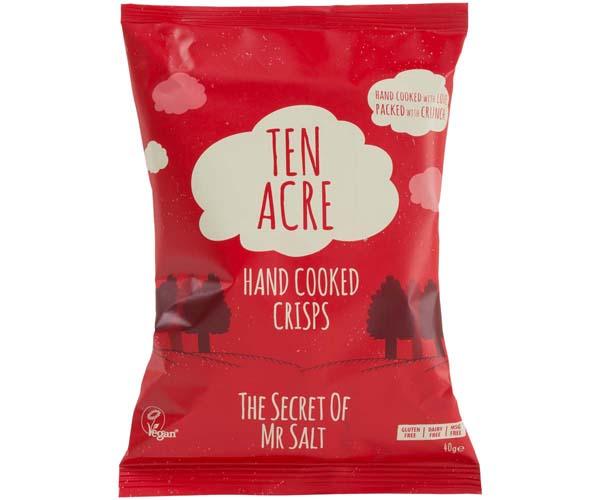 Ten Acre Crisps - Ready Salted - 18x40g