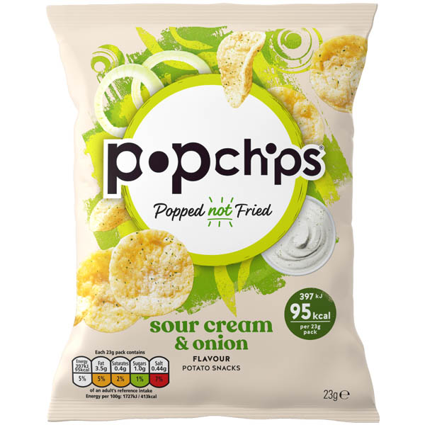 Popchips - Sour Cream & Onion - 24x23G