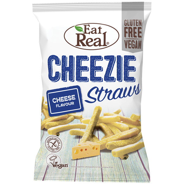 Eat Real - Cheezie Straws - 12x45g