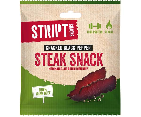 Stript Snacks - Cracked Black Pepper - 6x25g