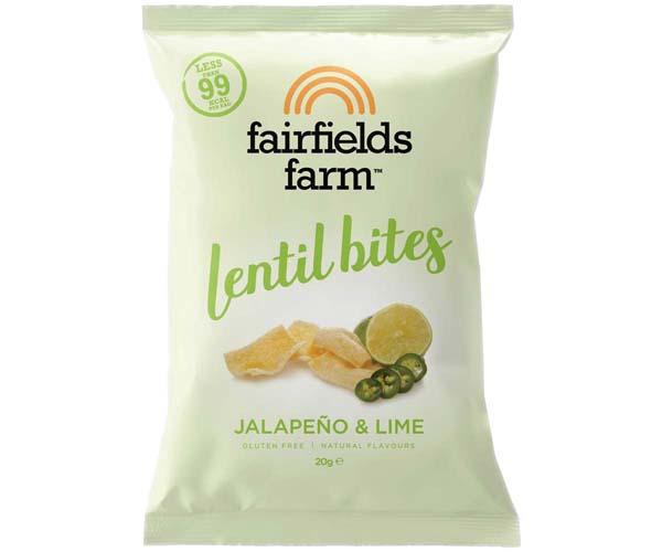 Fairfields - Lentil Bites - Jalapeno & Lime - 18x20g