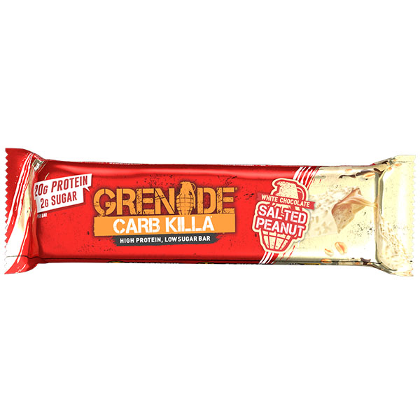 Grenade - Carb Killa Bar - White Choc Salted Peanut - 12x60g