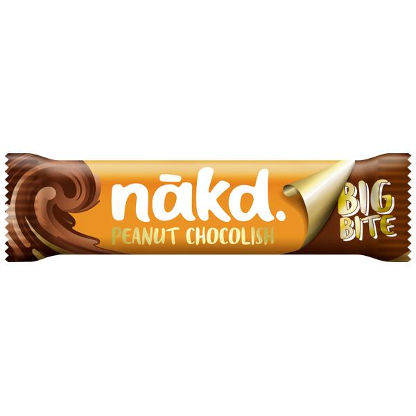 Nakd Chocolish Big Bite - Peanut - 16x50g