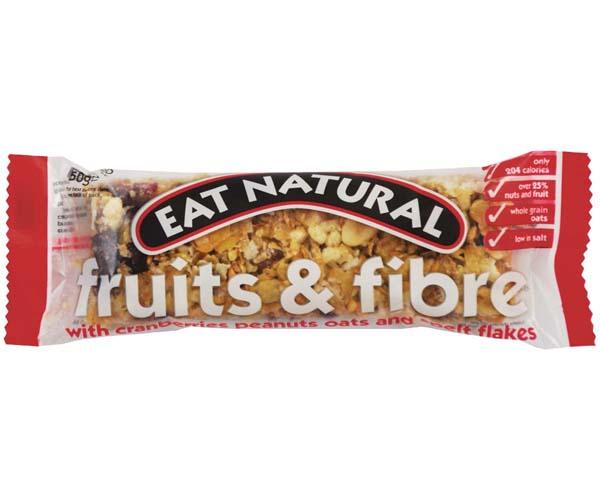 Eat Natural - Fruits & Fibre (Cran,Peanut,Oat) - 12x50g