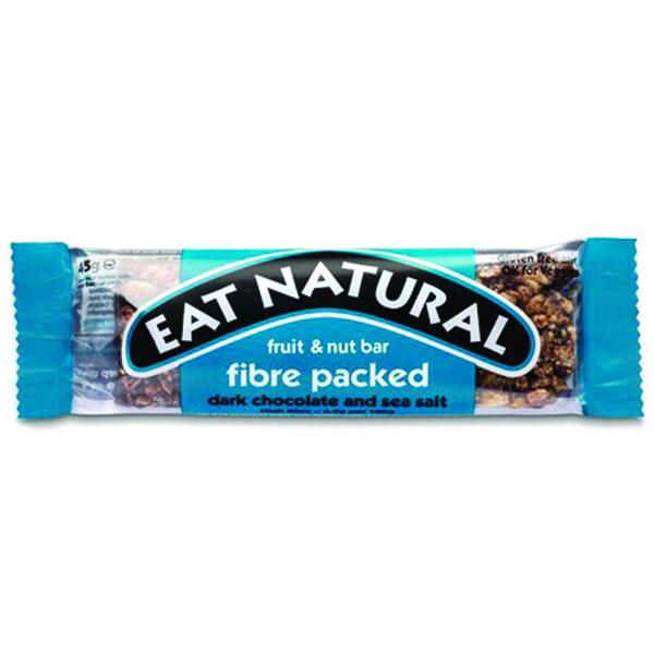 Eat Natural - Fibre Packed - Dark Chocolate & Sea Salt - 12x45g