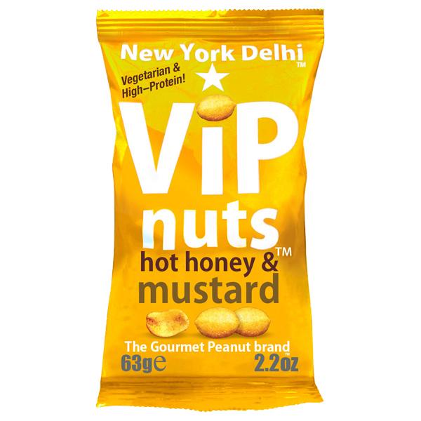 Vip Nuts - Hot Honey & Mustard - 12x63G