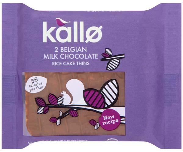 Kallo Organic Thins - Belgian Milk Choc - 21x22.5g