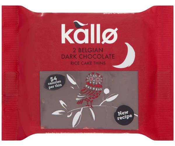 Kallo Organic Thins - Belgian Dark Choc - 21x22.5g