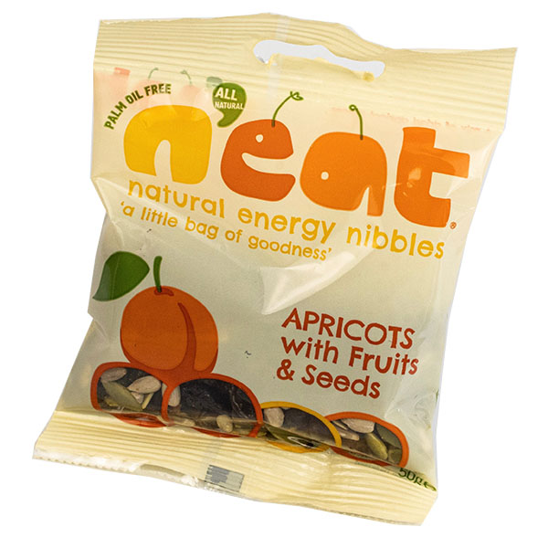 N'eat Nibbles Dried Apricots, Raisins & Seeds - 12x50g