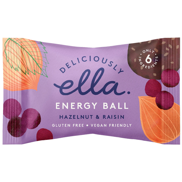 Deliciously Ella Energy Ball - Hazelnut & Raisin - 12x40g