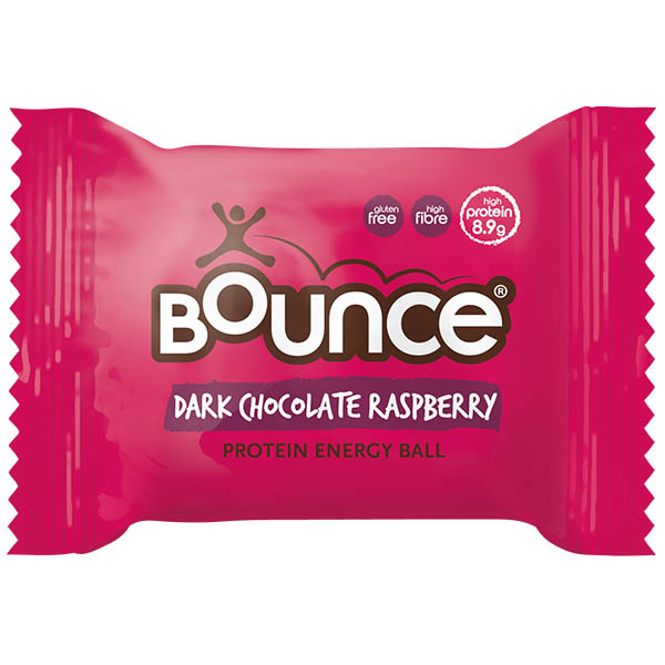Bounce Balls - Dark Chocolate Raspberry - 12x40g