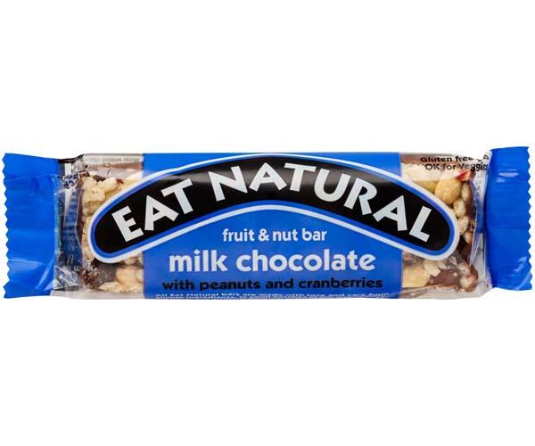 Eat Natural - Milk Choc, Peanut, Cranberries, Cash - 12x45g