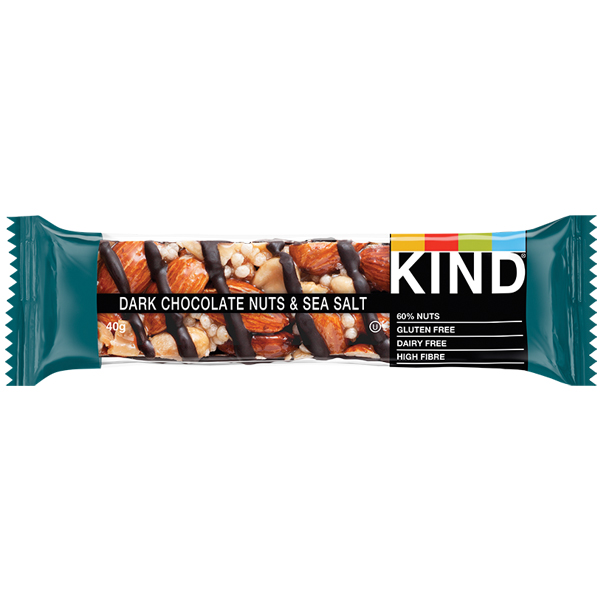 Kind Bar - Dark Chocolate, Nuts & Sea Salt - 12x40g