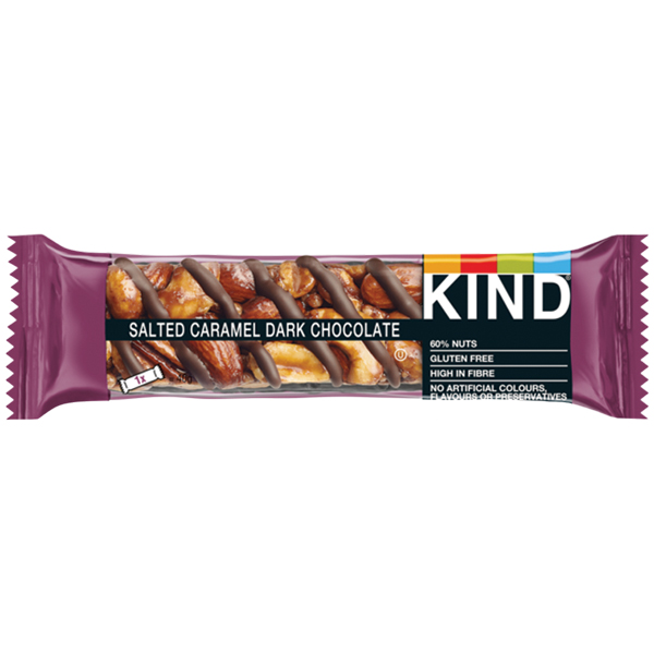 Kind Bar - Salted Caramel Dark Chocolate - 12x40g