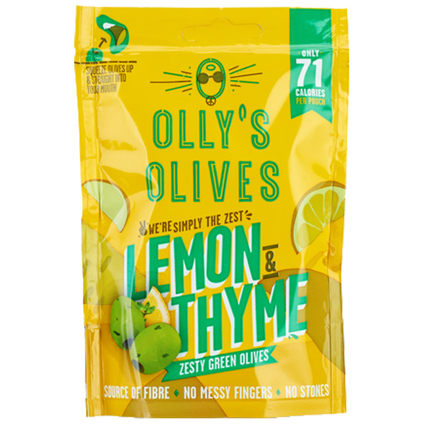 Olly'S Olives - The Hippie Lemon & Thyme -12x50g